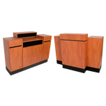 491.60 Reve Wild Cherry Standing Reception Desk