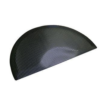 3x5 Double Sponge Black Floor Mat - Half Circle