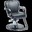 Chromium Cr24-00 Styling Chair on Black Chrome Round Base
