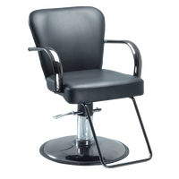 Chromium Cr24-00 Styling Chair on Black Chrome Round Base