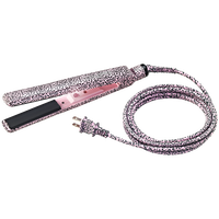 Pink Leopard 1 Inch Deco Cord Flat Iron