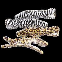Safari Print Croc Clips