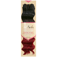 Loose Wave Ombre Burgundy 14 Inch Human Blend Hair