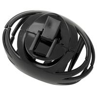 Large Black Round Hair Clip
