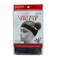 Black Large Band Wig Cap