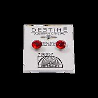 Destine Siam Red Diamond Cut Earrings 8mm