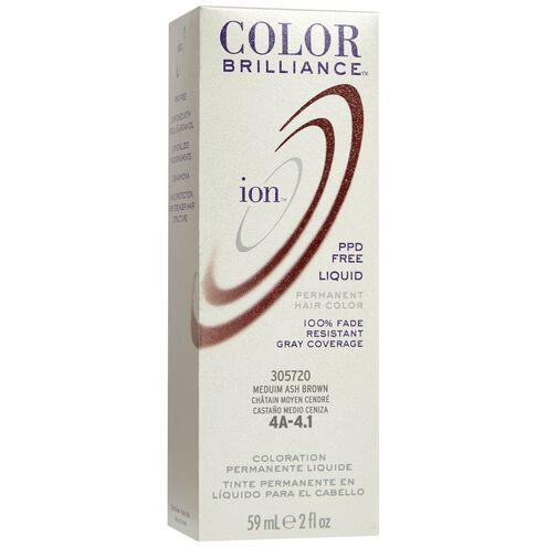 4A Medium Ash Brown Permanent Liquid Hair Color