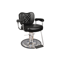 8060 Wallaby Black Charger Barber Chair