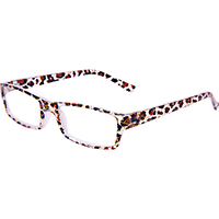 Fashion Reading Glasses with matching Orange Leopard Case 1.25