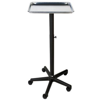 Aluminum Chemical Service Tray with Adjustable Stand