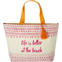 At The Beach Tassel Tote