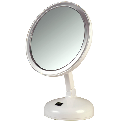 floxite 10x magnifying vanity mirror with 360 degree lighting. Black Bedroom Furniture Sets. Home Design Ideas