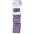 Violet and SIlver 1-1/2 Inch Gentle Style Self Grip Rollers 5 Pack