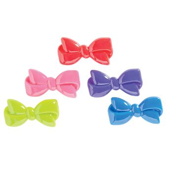 Assorted Color Bow Barrettes