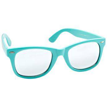 Ladies Fashion Sunglasses Turquoise Frames with Smoke Silver Lenses