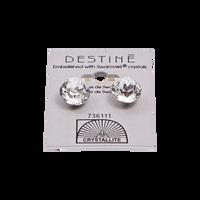 Destine Clear Diamond Cut Earrings 12mm