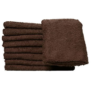 Bleach Guard Dark Brown Cotton Towels