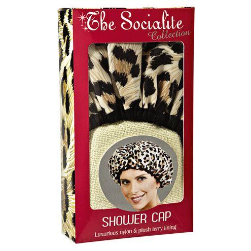 Socialite Safari Spots Shower Cap