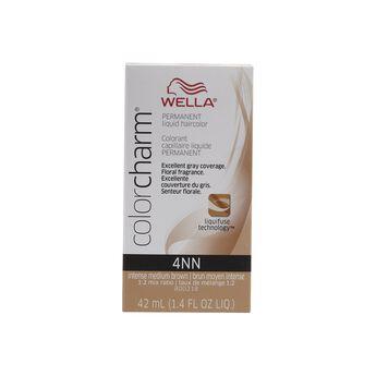 4nn intense medium neutral brown permanent liquid hair color - Wella Color Charm