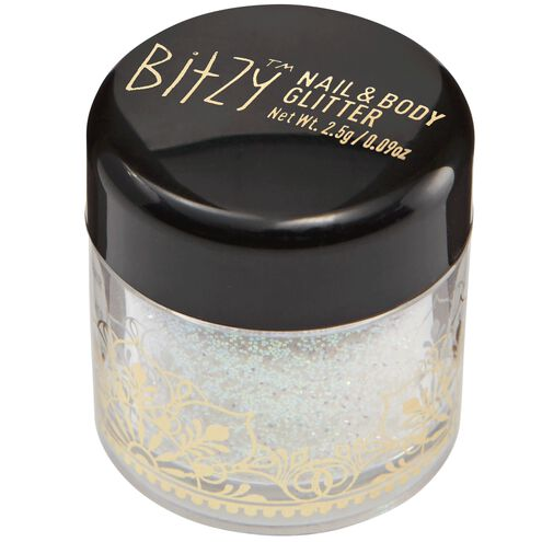 Nail and Body Glitter Stardust White