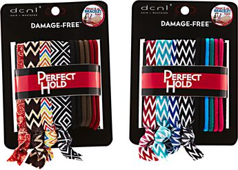 10 Piece Striped Knotties and Solid Color Elastics