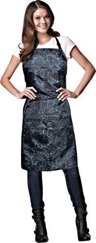 Damask Stylist Apron Black