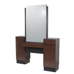 469.63 Reve Brighton Walnut Back-to-Back Styling Vanity & Ledge