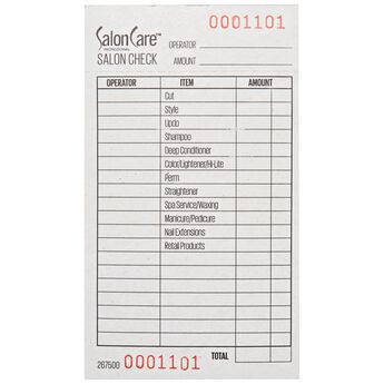 Stylist Check List Pad