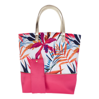 Tropical Tote with Pink Bottom