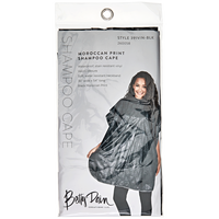 Black Designer Shampoo Cape