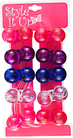 Large Color Twin Bead Ponytailers