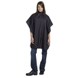 Nylon Solid Styling Cape Black