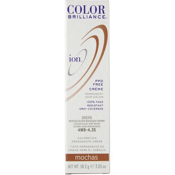 4WR Medium Gold Mahogany Brown Permanent Creme Hair Color