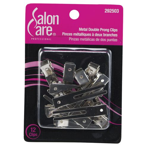 Metal Double Prong Curl Clips