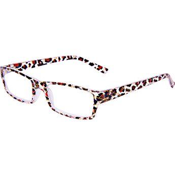 Fashion Reading Glasses with matching Orange Leopard Case 1.75