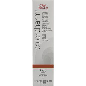 gel permanent tube hair color 7wv nutmeg - Wella Color Charm