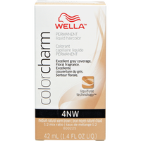 Medium Natural Warm Brown Color Charm Liquid Permanent Hair Color