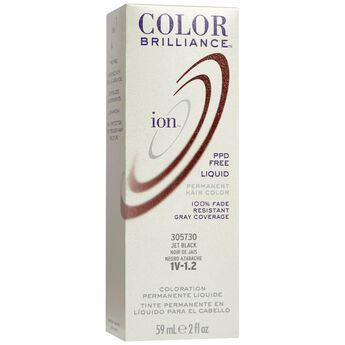 1V Jet Black Permanent Liquid Hair Color