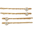 Rhinestone Gold Bobby Pins