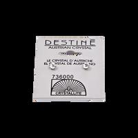 Destine Clear Diamond Cut Earrings 4mm