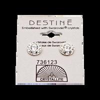 Destine Clear Diamond Cut Earrings 9mm