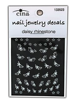 Diamonds and Daisies Rhinestones Nail Art Jewelry Decals