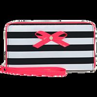 Black & White Stripe Wristlet Wallet