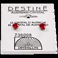Destine Heart-Shaped Austrian Crystal Earrings