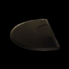 3x5 Tranquility Black Mat - Half Circle