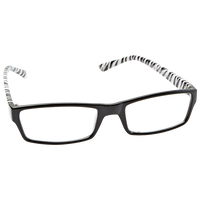 Two Tone Zebra Print Fashion Reading Glasses