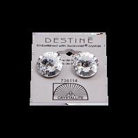 Destine Clear Rivoli Earrings 14mm