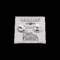 Destine Clear Rivoli Earrings 11mm