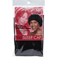 Black Satin Sleep Cap