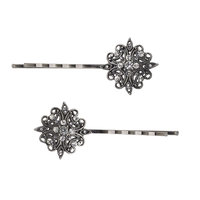 Renaissance Filigree Silver Bobbies